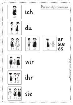 personalpronomen deutsch grammatik personen ich du er sie es wir ihr sie mit bildern alle. Black Bedroom Furniture Sets. Home Design Ideas