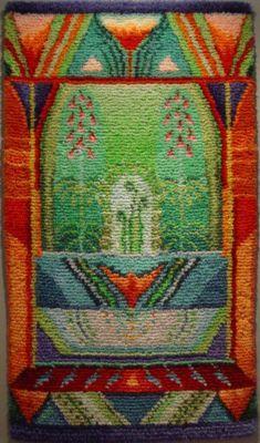 Billedresultat for sirkka könönen patterns Art Textile, Textile Artists, Textile Patterns, Weaving Textiles, Tapestry Weaving, Rya Rug, Tapestry Design, Wool Applique, Rug Hooking