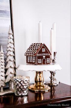 DIY Cinnamon Salt Dough Gingerbread House - Domestically Blissful