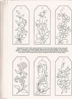 Would be really pretty done in embroidery and then made into bookmarks! pergamano - Page 10 - Picmia