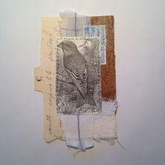 Tina Jensen Art Studio - Textile and Collage work. Paper Collage Art, Collage Art Mixed Media, Mixed Media Canvas, Paper Art, Collage Artists, Fabric Journals, Art Journals, Fabric Books, Journal Art