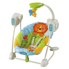 T1457 Fisher-Price Precious Planet Blue Sky Space Saver Swing & Seat.