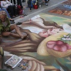 Chalk Artist, Street Painting, 3d Street Art, Lake Worth, Beautiful Words, Past, City, Florida, Paintings