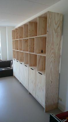 Cabinet of Underlayment Plywood Cabinets, Plywood Furniture, Diy Furniture, Furniture Design, Plywood Storage, Plywood Shelves, Diy Storage Cabinets, Plywood Design, Living Room Tv