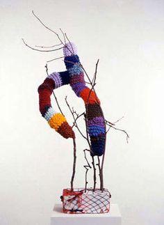 Alexandra Bircken does organic shaped crochet pieces