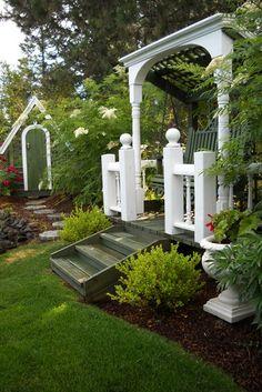 """Natural Spirea, Boxwood, Garden Shed """"Dream Team's"""" Portland Garden Garden Design Calimesa, CA"""