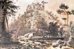 Chichén Itzá, dibujo de Frederick Catherwood. Shared by Edith Cruz