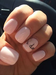 Cute yet elegant nails; wedding nails; engagement nails