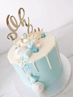 #baby #babyboy #babyshowerideas #kraamfeest #ohbaby #oh #drip #cake