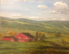 Upstate New York, acrylic on canvas by Kathleen Maher