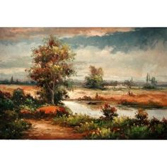 Real Handmade Landscape Oil painting Landscape Art, Landscape Paintings, Oil Paintings, Landscapes, Handmade, Paisajes, Scenery, Hand Made, Landscape