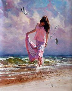 oil paintings by Robert Hagan, impressionism art