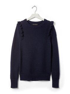 Ruffle Pullover Sweater | Banana Republic
