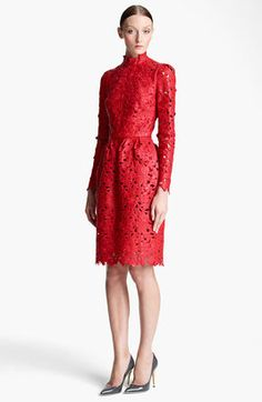 Valentino - Laser Cut Leather Dress - $9,800 - Click on the image to shop now