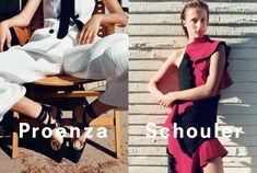 Olympia Campbell stars in Proenza Schouler's spring 2016 campaign