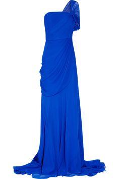 Jason Wu|One-shoulder silk-chiffon gown|NET-A-PORTER.COM