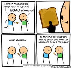 Mensajes en tostadas. #humor #risa #graciosas #chistosas #divertidas
