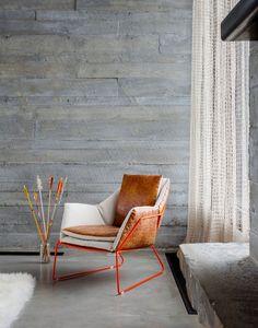design stoel in metaal