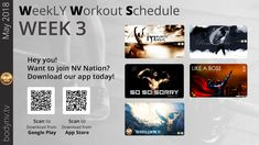 Weekly Workout Schedule, Like A Boss, Fun Workouts, 21st, How To Plan, Tv, Television Set, Television