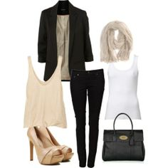 What a great outfit for a Friday or Saturday to go from work to drinks with your husband!  Or Dancing with the girls!