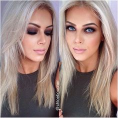 Not a huge fan of the super smokey eyes on her but LOVE her hair color and tone!