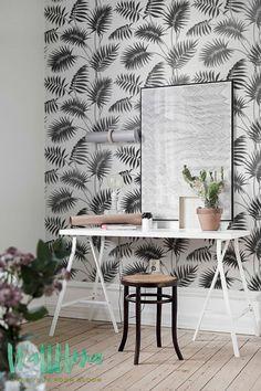 CYBER MONDAY 30% OFF Palm Areca Pattern Wallpaper Von WallfloraShop Kleine  Palmen, Haus,