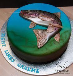 Trout Fishing Cake …