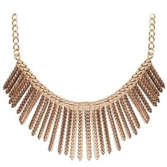 Gold Statement Necklace - $38.00