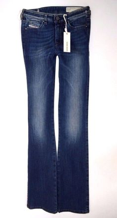 NEW Ladies DIESEL DORIS-B Stretch Slim Bootcut leg JEANS women W25 L32 size  uk