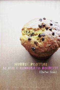 Una Fetta Di Paradiso: Muffin Proteici Ceci E Cioccolato Fondente [Gluten...