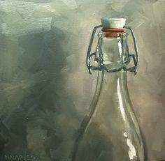 """Daily Paintworks - """"Bottle Top"""" - Original Fine Art for Sale - © Michael Naples"""