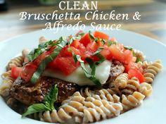 Sweet Love and Ginger: D4One: Clean Bruschetta Chicken & Alfredo Sauce