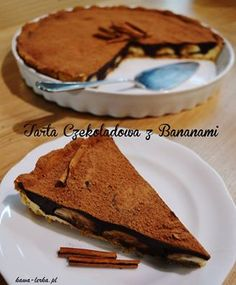 chocolate tart with banana - cracow - poland - Kawalerka  (kawiarnia, Kraków)