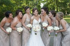 We love these sequined bridesmaid dresses for a wedding at The Great Hall & Conference Center! With this venue, you can have glitzy glam or modern simplicity! Click the image to learn more. Photo credit: Belisario Photography