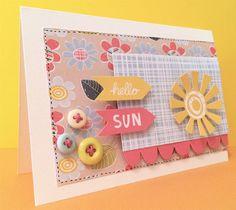 How to Make a Mini Album and a Spring Card #CraftAsylum #Papercraft