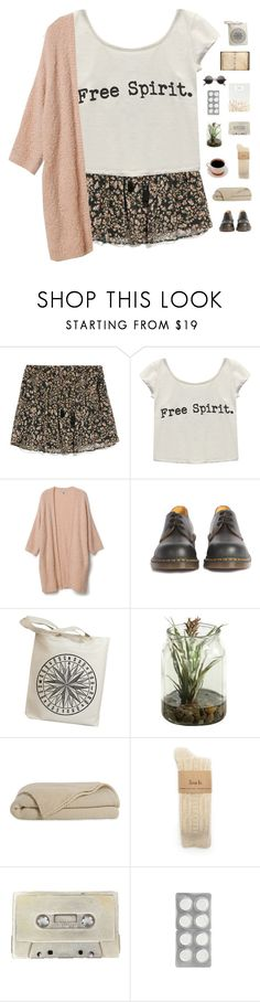 """blowin in the wind."" by serendipityagain ❤ liked on Polyvore featuring MANGO, Wet Seal, Dr. Martens, Uslu Airlines, outfit, skirt, neutral, coffee and summer2015"