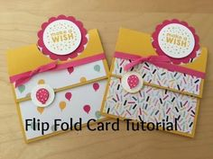 In today's video I show you have to create a cute Flip Fold card using the following products: Party Wishes Stamp Set and Party Punch Pack Bundle (save 15% w...