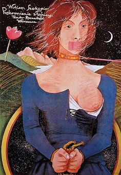 "Another excellent Polish theatre poster this time by Andrzej Dudzinski, for a production of Billy Wigglestick's ""Taming of the Shrew"". Brilliant."
