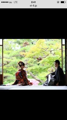 前撮り Wedding Photo Images, Wedding Pictures, Wedding Kimono, Japanese Wedding, Kimono Dress, Japan Fashion, Traditional Outfits, Poses, Photography