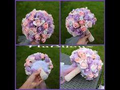 Handmade wedding flower bouqet diy Flower Bouqet, Flowers, Design Crafts, Handmade Wedding, Diy, Bias Tape, Tutorials, Bricolage, Do It Yourself