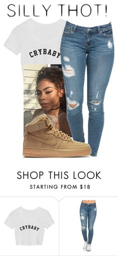 """""""Silly Thot ( Spamming Polyvore today)"""" by melaninaire ❤ liked on Polyvore featuring NIKE"""