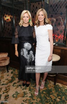 Princess Marie Chantal of Greece (L) and guest attend the 'Icons of Style' dinner hosted by Michael Kors and Vanity Fair on May 14, 2015 in London, United Kingdom.