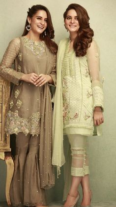 Phatyma Khan Luxury Winter Pret Dresses are in light color shades to make you look more attractive during these winter events or wedding parties. Pakistani Fashion Casual, Pakistani Dresses Casual, Pakistani Wedding Outfits, Pakistani Dress Design, Indian Dresses, Indian Outfits, Indian Fashion, Pakistani Clothing, Casual Dresses