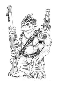 Besalisk Mercenary by JawaStu on Star Wars Artists Guild (swagonline.com)
