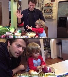 West Collins and Misha Collins. Cooking Fast and Fresh with West. From what I've seen of the show, that's the kind of parent I want to be.