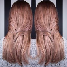 Rose gold balayage @bangseattle