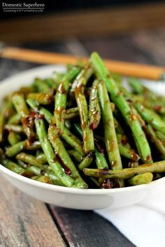 Copycat PF Chang's Spicy Green Beans - this is the best copycat recipe and…