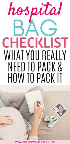 The hospital bag: What you need how to pack it - The Mummy Bubble - Pregnancy Labor Hospital Bag, Packing Hospital Bag, Hospital Bag Essentials, Hospital Bag Checklist, Healthy Pregnancy Tips, Pregnancy Labor, Maternity Pads, Emergency Bag, Baby F
