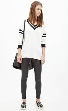 Womens Clothing: Dresses, Sweaters, Denim, Shoes Under $40 Forever 21 - leggings, shirt, sneaker, bag