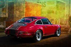 Porsche card by Stuart Row #porsche